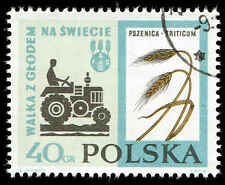 Scott # 1112 - 1963 - ' Tractor & Wheat ', Fao Freedom From Hunger Campaign