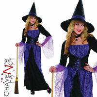 Pretty Potion Witch Costume Ladies Halloween Fancy Dress Womens Outfit New