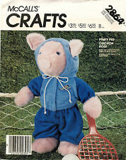 1980's VTG McCall's Pinky Pig and Clothes Pattern 2864