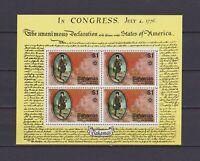 S16772) Bahamas MNH New 1976 US Bicentenary S/S