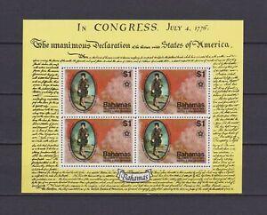 s16772) BAHAMAS  MNH** Nuovi** 1976 US bicentenary s/s