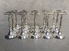 """15 Vintage Beautiful silver plate place card holder set.5""""inches high."""