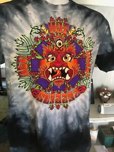 Red Hot Chili Peppers Tie dye T-shirt liquid blue new size M