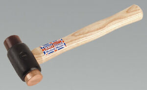 Sealey CRF15 Copper/Rawhide Faced Hammer 1.5lb Hickory Shaft