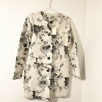 Lucy & Laurel Size Small Wool Blend Floral Coat NWT