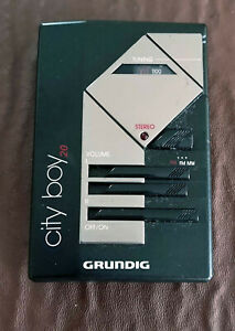 Vintage and Rare Grundig City Boy 20 FM MW Personal Radio with earphones