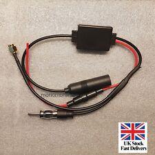 Universal DAB FM AM Car Antenna Aerial Splitter Cord Digital Radio & Amplifier