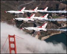 USAF F-16 Thunderbirds 6-Ship Delta San Francisco 2018 8x10 Photos