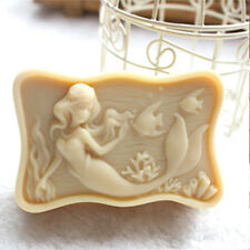Silicone molds free shipping DIY soap moulds mermaid 05