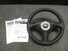 JDM Genuine TRD 90-99 MR2 SW20 Turbo Black Leather Red SRS Steering Wheel Type-A