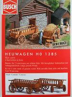 Busch H0 1385 Heuwagen (Bausatz für 2 Leiterwagen aus Echtholz) 1:87/H0 NEU/OVP