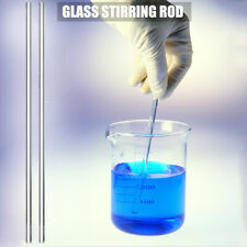 2 pcs Glass Stirring Rod Mixing Lab Use Stiring Stirrer 9.8inch Transparent