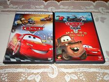 Cars movie and Toon Mater's Tall Tales, 2 DVD Widescreen Set, LEGAL Disney Pixar