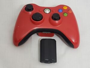 Official OEM Microsoft Xbox 360 Gamepad Wireless Game Controller Red TESTED READ