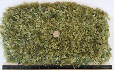 "BEACH SEA GLASS - Dead Leaf Green -  Craft Glass - 2lbs  0"" - 1/4"" size"