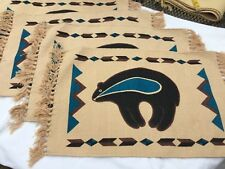 Set 4 El Paso Saddle Blanket Co Placemats & 4 Coasters Indian Western, Southwest