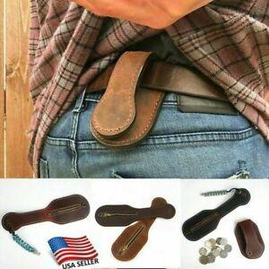 US Coin Purse Genuine Leather Racket Jack Sap Big Capacity Belt For Self Defense
