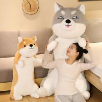 60-100CM Cute Shiba Inu & Husky Dog Plush Toys Cartoon Long Animals Sleep Pillow