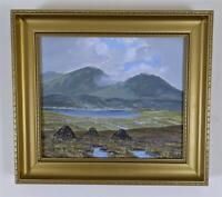 DAVID CROSBY MCCRACKEN Oil Painting On Canvas CONNEMARA IRELAND 1987 - IRISH ART