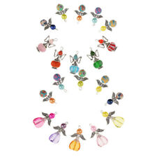 20x Acrylic Pearl Clay Angel Wing Charms Findings Jewelry Making Accessories