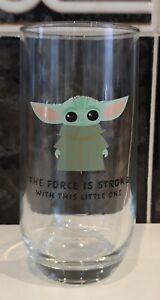 Star Wars The Mandalorian The Child Highball Drinking Glass. Baby Yoda. Grogu