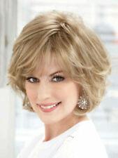 100% Human Hair Natural Short Straight Light Blond Fashion Women's Wig