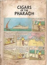 ADVENTURE OF TINTIN CIGARS OF THE PHAROAH  REPRINT EDI. ENGLISH COMIC BY HERGE