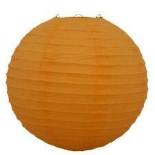 "Plain Orange Round Paper Lantern 20"""