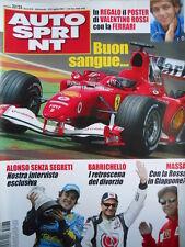 Autosprint n°32-33 2005 Poster Valentino Rossi su FERRARI  [P22]