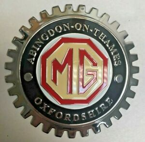New MG Oxfordshire Grille Badge- Chromed Brass- Great Gift Item!