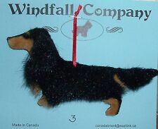 Black Tan Long Coat Dachshund Dog Plush Christmas Canine Ornament #3 by WC