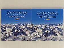 Andorra Pirineus- Euro-Münzsatz 2014 incl. KMS 2013 Diners (12651)