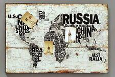 Magnettafel Welt 120 x 80 cm mit Magneten Flugzeug Weltkarte Memotafel Neu