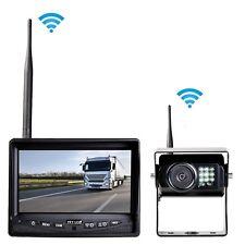 """Auto LKW PKW Funk Profi Rückfahrsystem DIGITAL Rückfahrkamera 7"""" Monitor 12 24 V"""