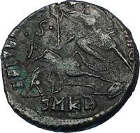 CONSTANTIUS II 355AD Cyzicus Authentic Ancient Roman Coin w BATTLE SCENE i65795