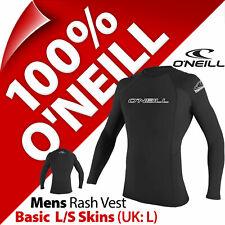 O'Neill Mens Long Sleeve Basic Skins Rash Vest Guard Slim SPF 50 Size S (Small)
