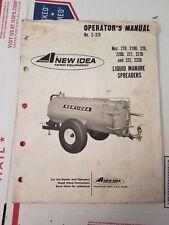 New Idea Avco Liquid Manure Spreader Owners Manual No S 310