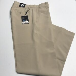New FOOTJOY GOLF Men's 30 x 32 Khaki Performance Pants FREE PRIORITY SHIP