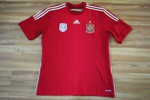 SPAIN 2014-2015 NATIONAL TEAM HOME FOOTBALL SHIRT JERSEY CAMISETA SIZE MEN LARGE