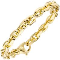 7,7mm Ankerarmband Armkette aus 585 Gold Gelbgold Armschmuck 21cm, Goldarmband