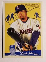 2008 Marlon Byrd Upper Deck Goudey Graphs Auto Autograph Card Rangers w/ D Jeter