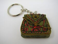 Cute Vintage Keychain Charm: Green Purse Composite Material Great Design