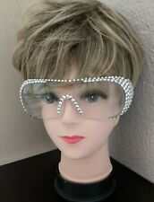 Rhinestone Clear Crystal Safety Eye Protective Clear Glasses Goggles (1 pair)