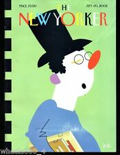 The New Yorker Magazine September 30 2002 Booksnob by Bob Zoell (HA) Good