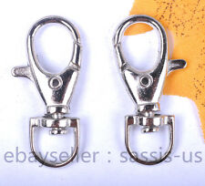 5 Pieces 38mm Large Size Clasp Hooks Metal Plated Silver Jewelry Findings 1021