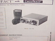 1975 RAY JEFFERSON CB RADIO SERVICE SHOP MANUAL MODEL CB-705