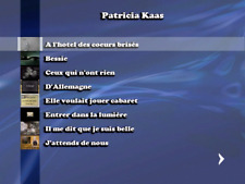 """NEW""!!! ...DVD KARAOKE PATRICIA KAAS...... (26 titres home made+R)"