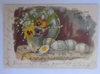 Ostern, Ostereier, Blumen,  1900, Golddruck  ♥ (64937)