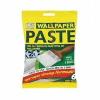 Wallpaper Glue Paste 5 Rolls 6 Pint For All Types Paper - Super Strong Formula