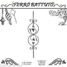 PANNELLI PALETTI FOGLIATI FERRO BATTUTO X SCALA RINGHIERE CANCELLO H100cm L 22cm